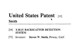 AIRPORT SCANNER PATENT